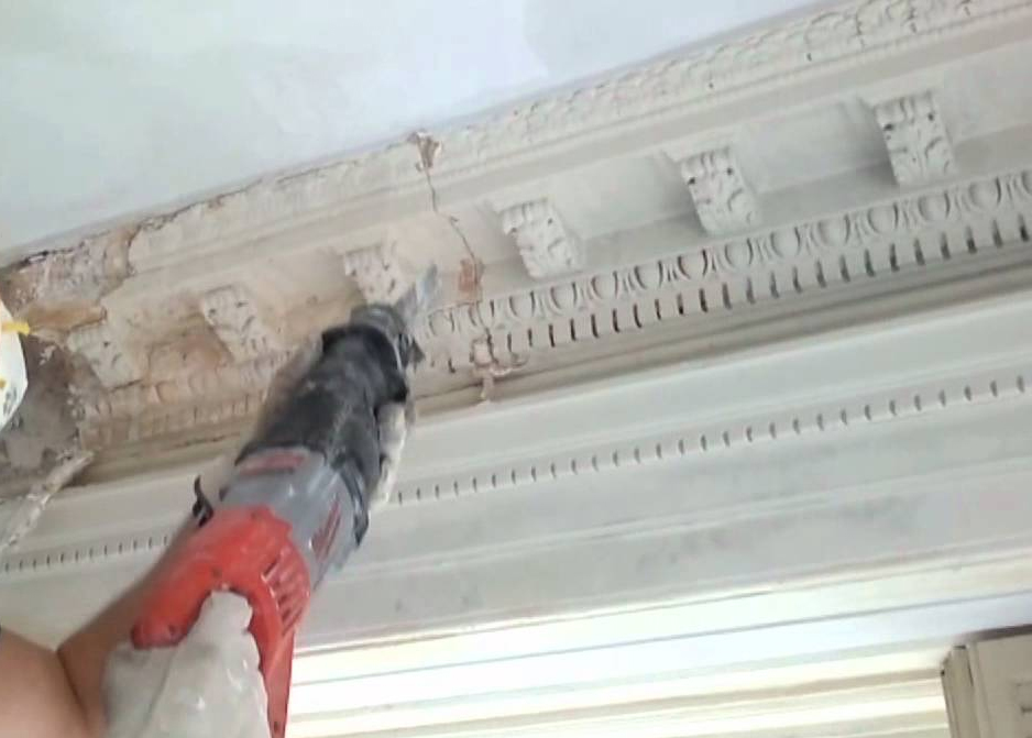 decorative Victorian traditional plaster molding – cornice restoration
