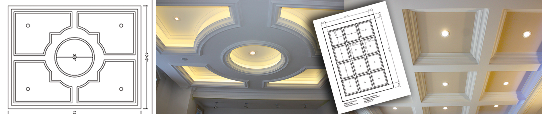 from cornices, to columns, to medallions and fireplace mantels are manufactured in our well-equipped workshop
