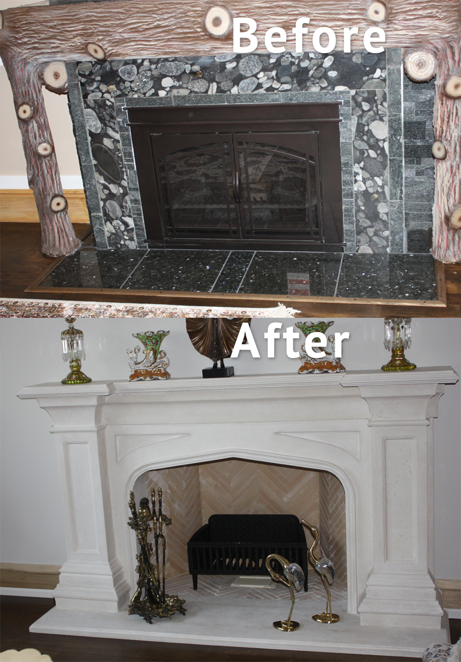 Custom Fireplace mantel, Architectural plaster moulding